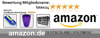 Berwertung amazon Polymere Shop lotex24